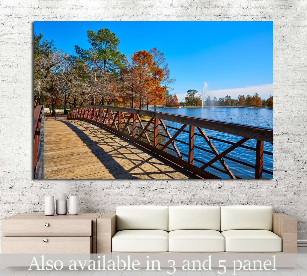 Hermann park, Texas №993 Ready to Hang Canvas Print