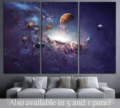 High resolution images presents creating planets of the solar system. №2450 Ready to Hang Canvas Print