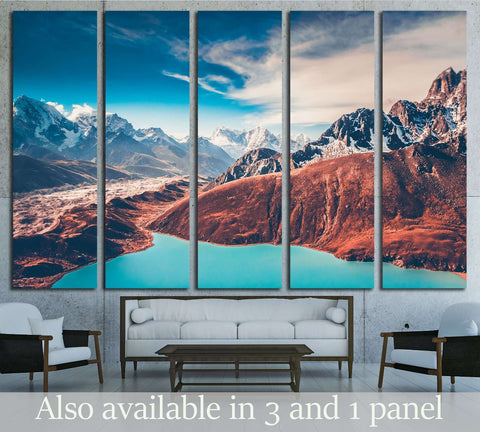 Himalayas. View from Gokyo Ri. Nepal №3182 Ready to Hang Canvas Print