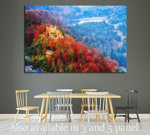 Hohenschwangau castle, Germany, Bavaria region №1811 Ready to Hang Canvas Print