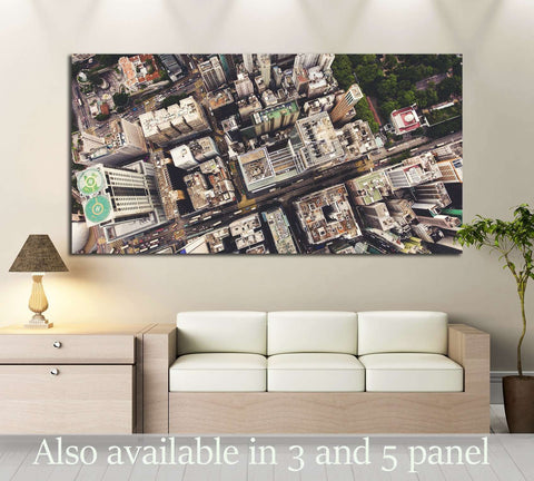 Hong Kong city with tall buildings and development transportation infrastructure №2978 Ready to Hang Canvas Print
