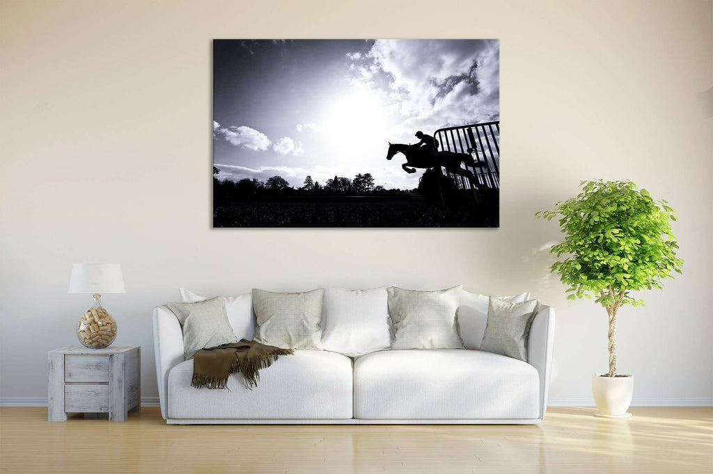 Horse Racing №650 Ready to Hang Canvas Print