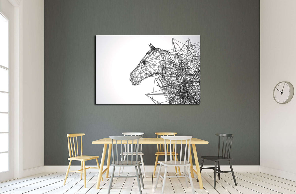 Horse Stylized Low Poly Wire Construction Concept Concepts