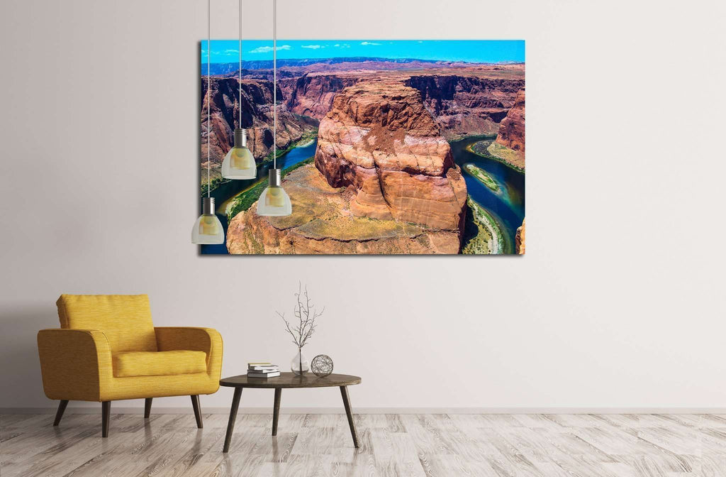 Horseshoe Bend in Arizona №1999 Ready to Hang Canvas Print