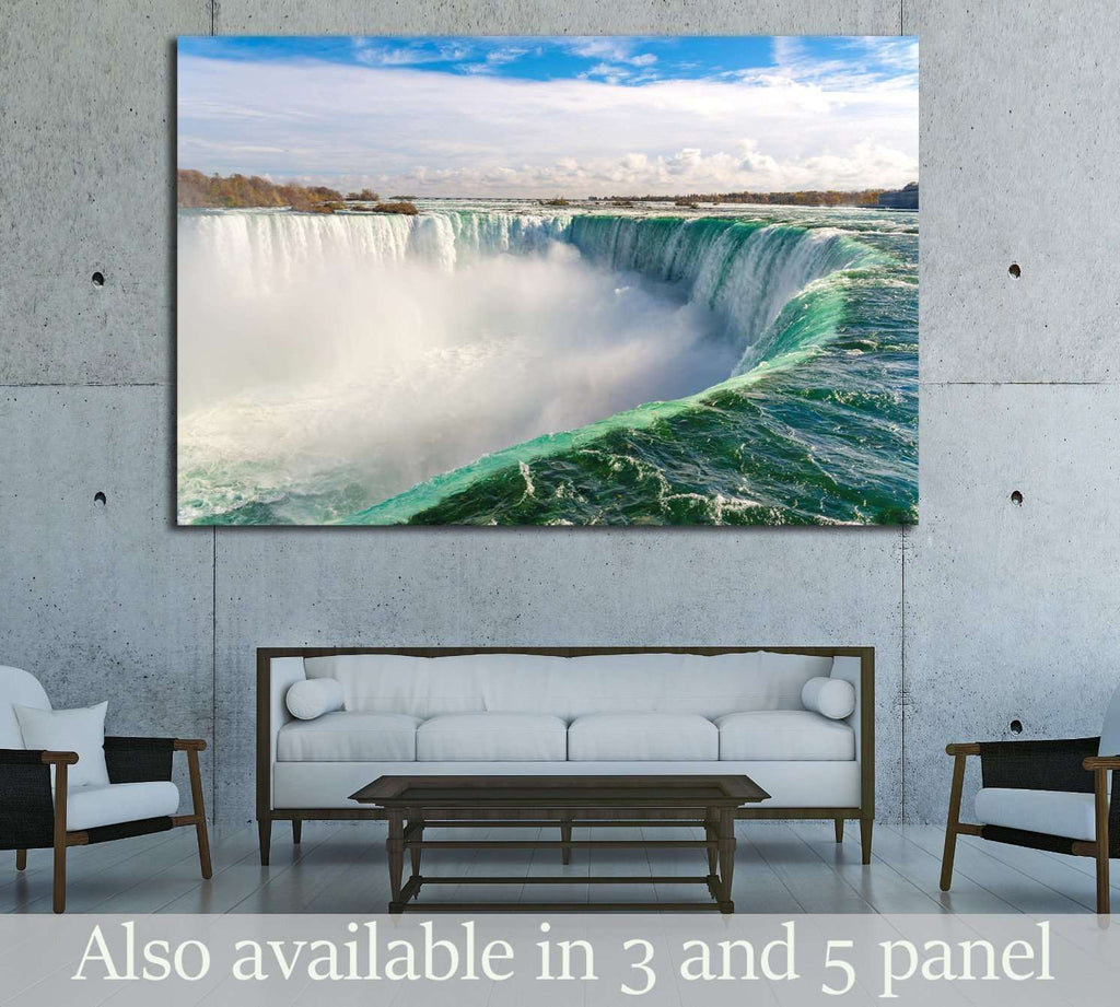 Niagara Falls Wall Art, Horseshoe Fall Canvas Print, Ontario, Canada Ready to Hang Canvas Print №2008