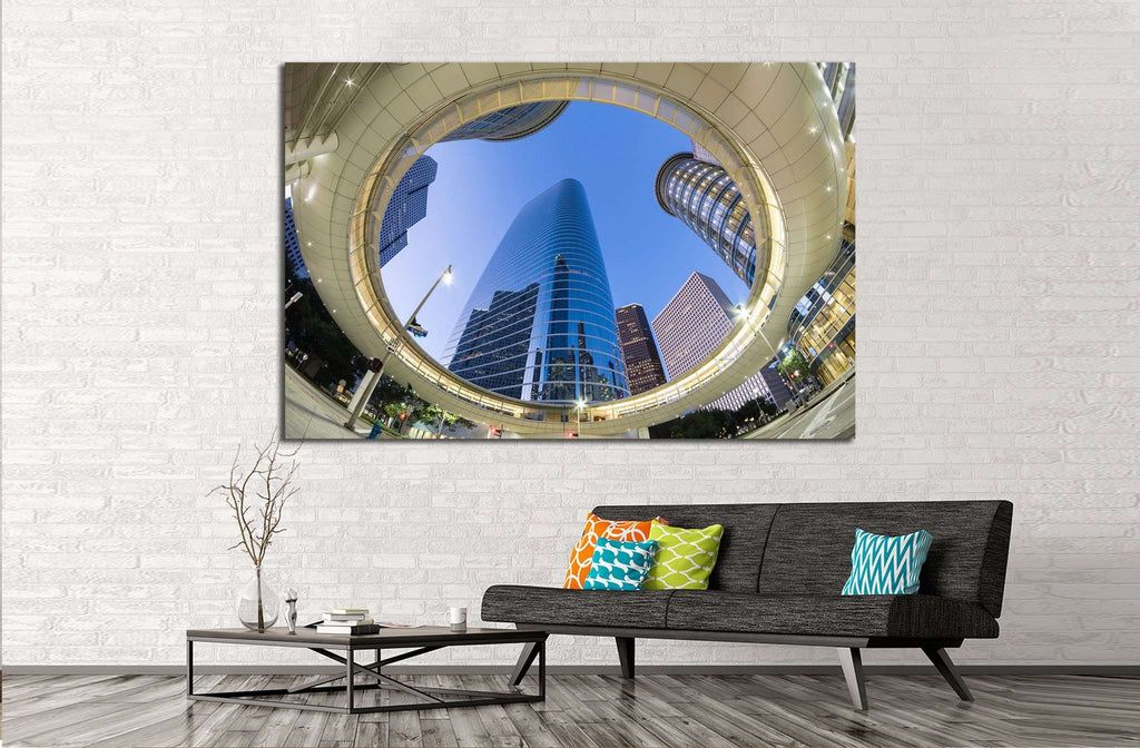 Houston Downtown №1010 Ready to Hang Canvas Print