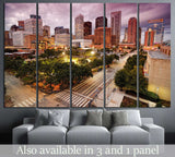 Houston Skyline at Dusk №889 Ready to Hang Canvas Print