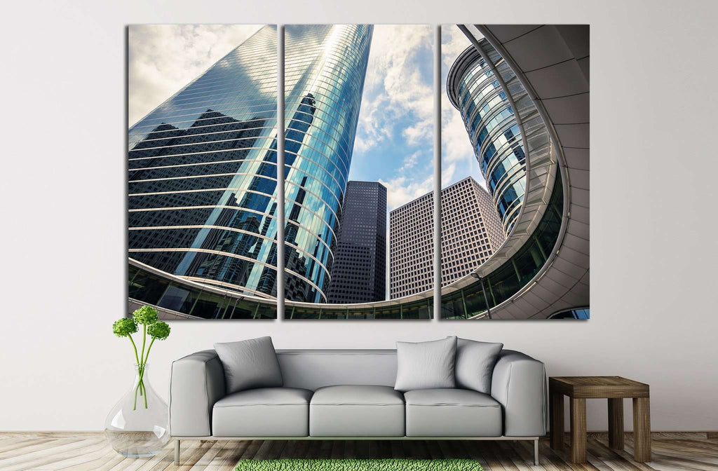 Houston, Texas skyscrapers №1000 Ready to Hang Canvas Print
