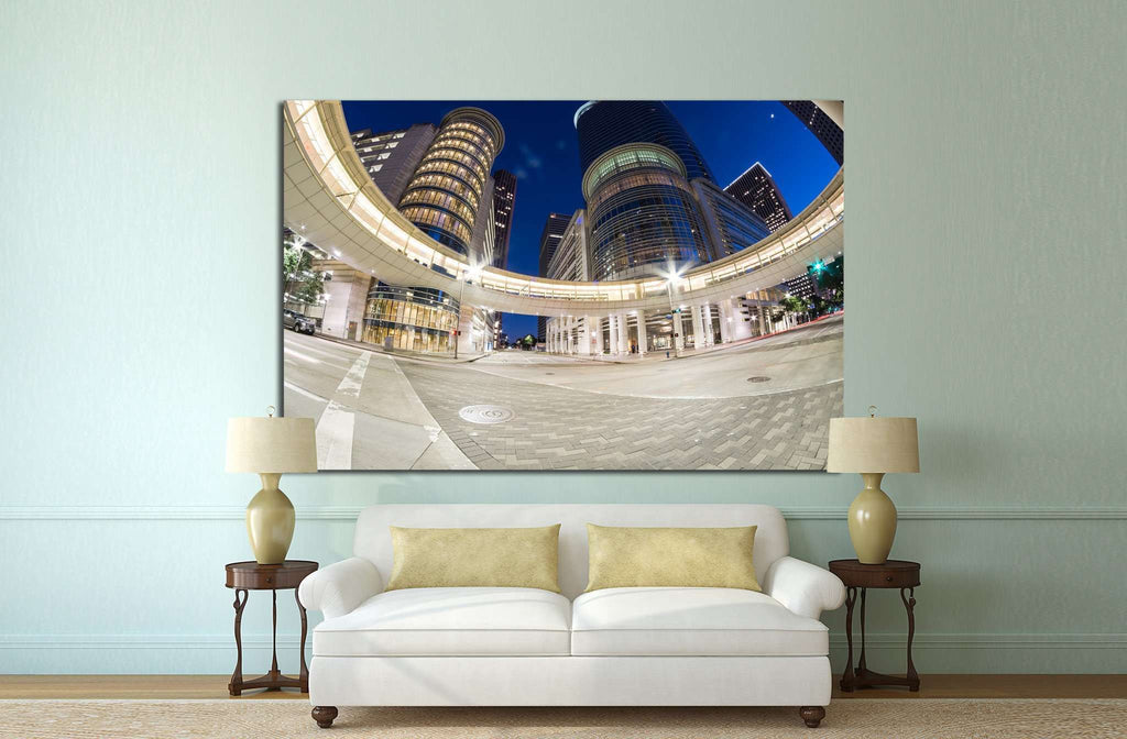 Houston with modern skyscrapers №1009 Ready to Hang Canvas Print