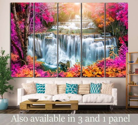 Huay Mae Kamin, Thailand №619 Ready to Hang Canvas Print