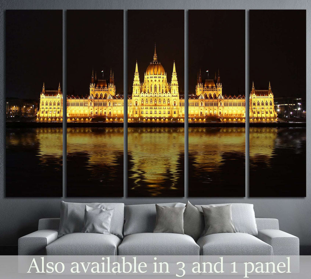 Hungarian Parliament Building №521 Canvas Print