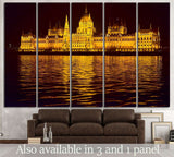 hungarian parliament building №724 Ready to Hang Canvas Print