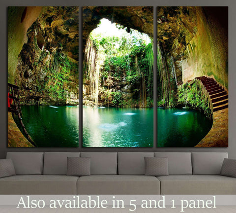 Ik-Kil Cenote, Chichen Itza, Mexico №2511 Ready to Hang Canvas Print