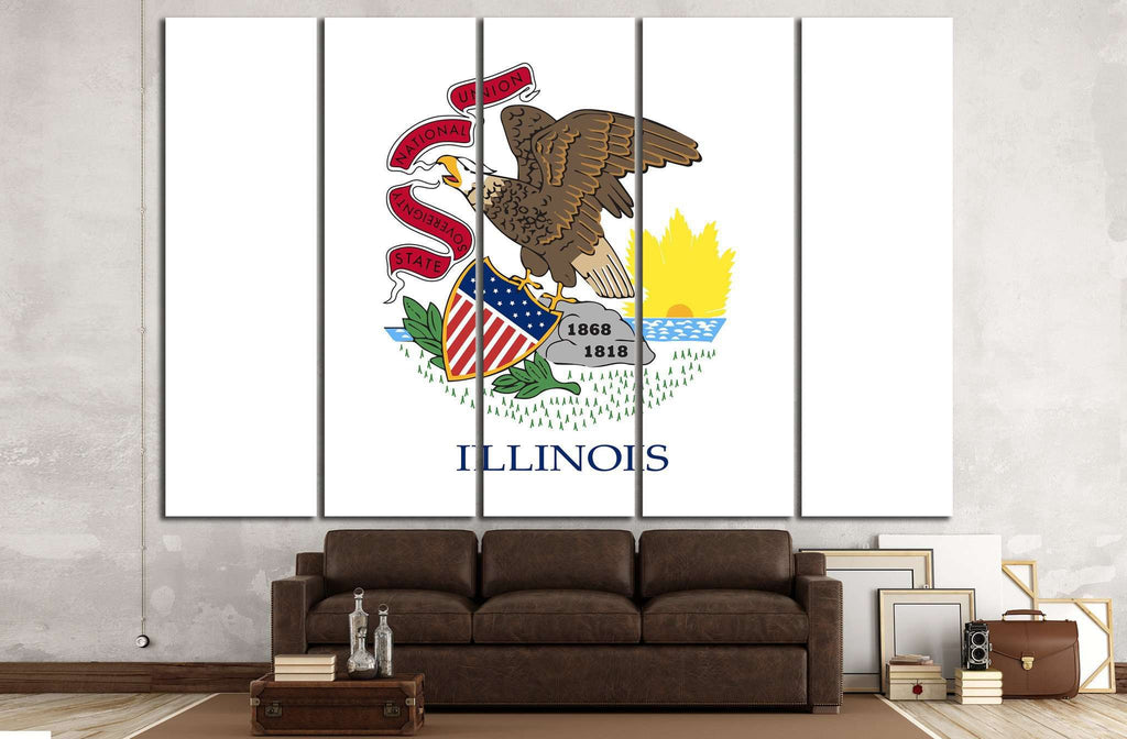 Illinois state flag №676 Ready to Hang Canvas Print