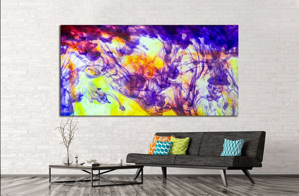 inks in water, colorful abstraction №1341 Ready to Hang Canvas Print