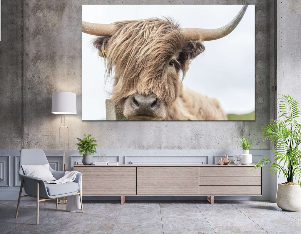 Highland Cow №04123 Ready to Hang Canvas Print