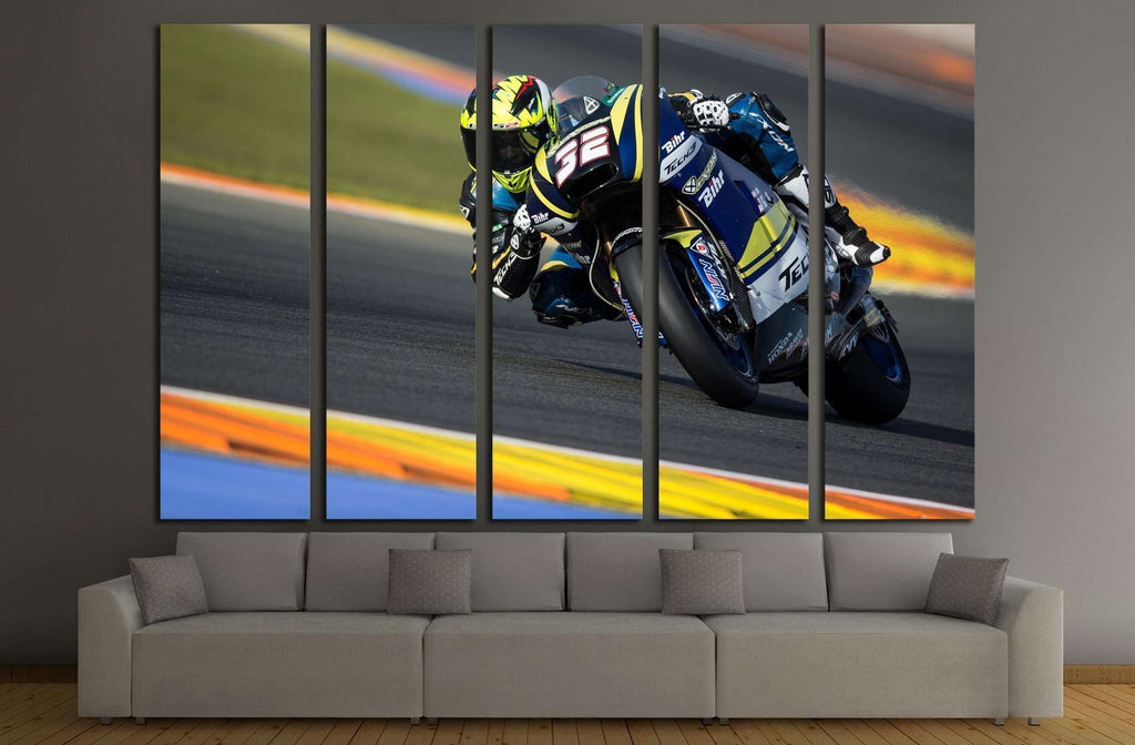 Isaac Vinales, Motogp Grand Prix, Valencia, Spain №1892 Ready to Hang Canvas Print