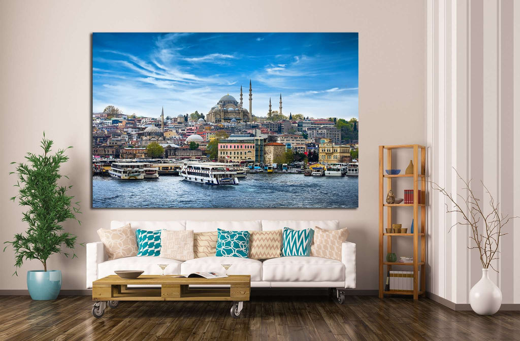 Istanbul the capital of Turkey №1178 Ready to Hang Canvas Print