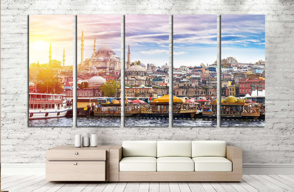 Istanbul, Turkey, Eastern Tourist City №1179 Ready to Hang Canvas Print