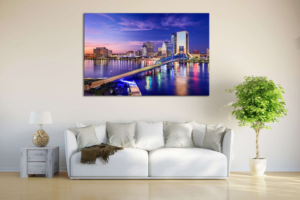 Jacksonville Skyline №621 Ready to Hang Canvas Print