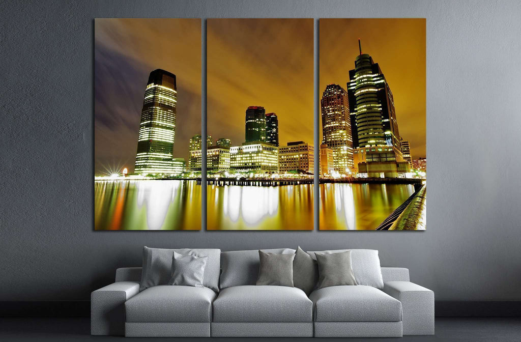 Jersey City Waterfront №1669 Ready to Hang Canvas Print