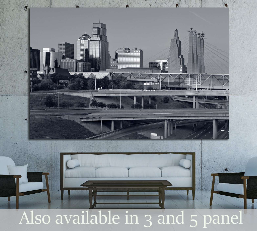 Kansas City skyline №1622 Ready to Hang Canvas Print
