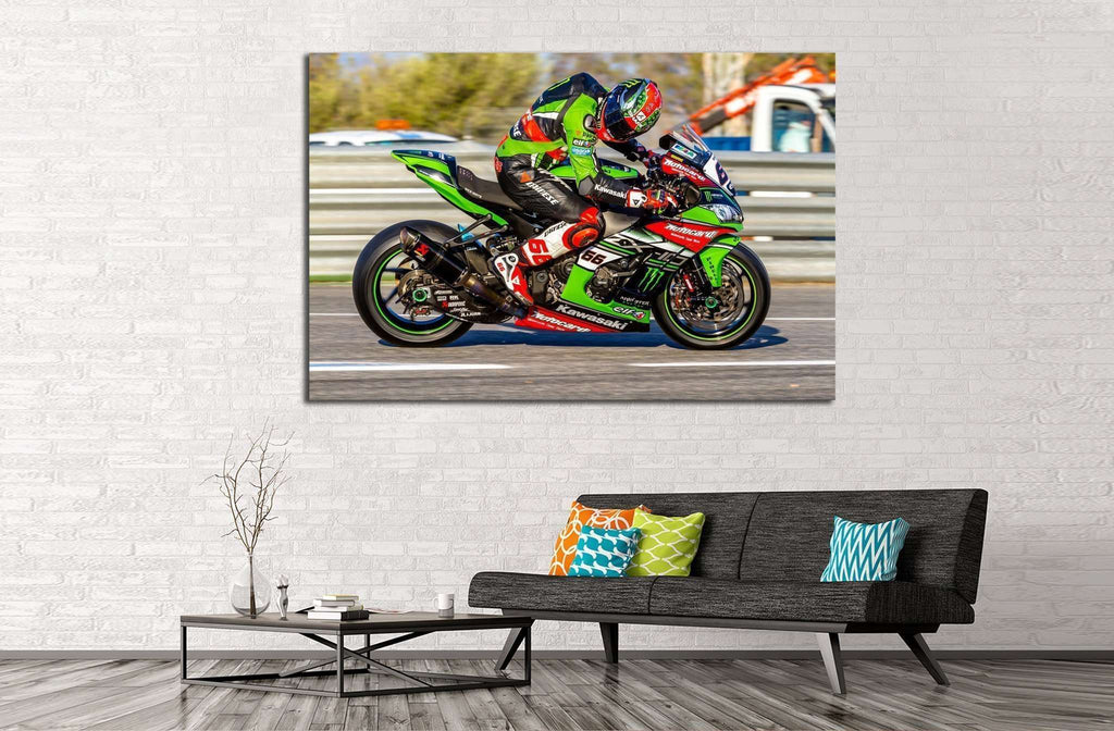Kawasaki Ninja №161 Ready to Hang Canvas Print