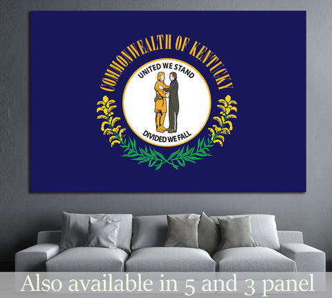 Kentucky Flag №687 Ready to Hang Canvas Print
