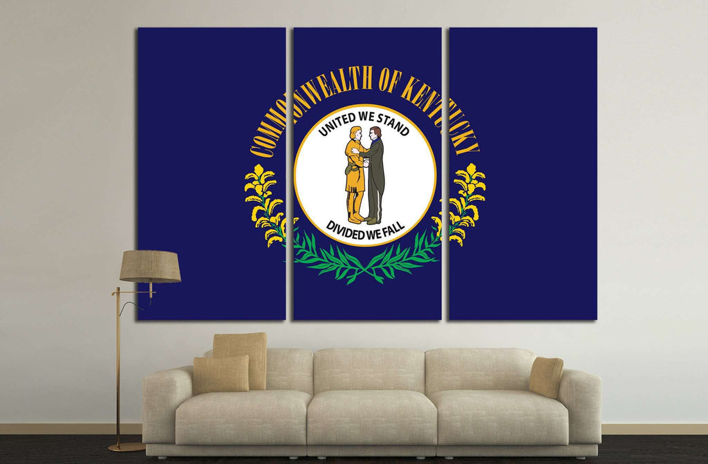 Kentucky Flag №687 Canvas Print