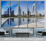 Kuwait city skyscraper №2193 Ready to Hang Canvas Print