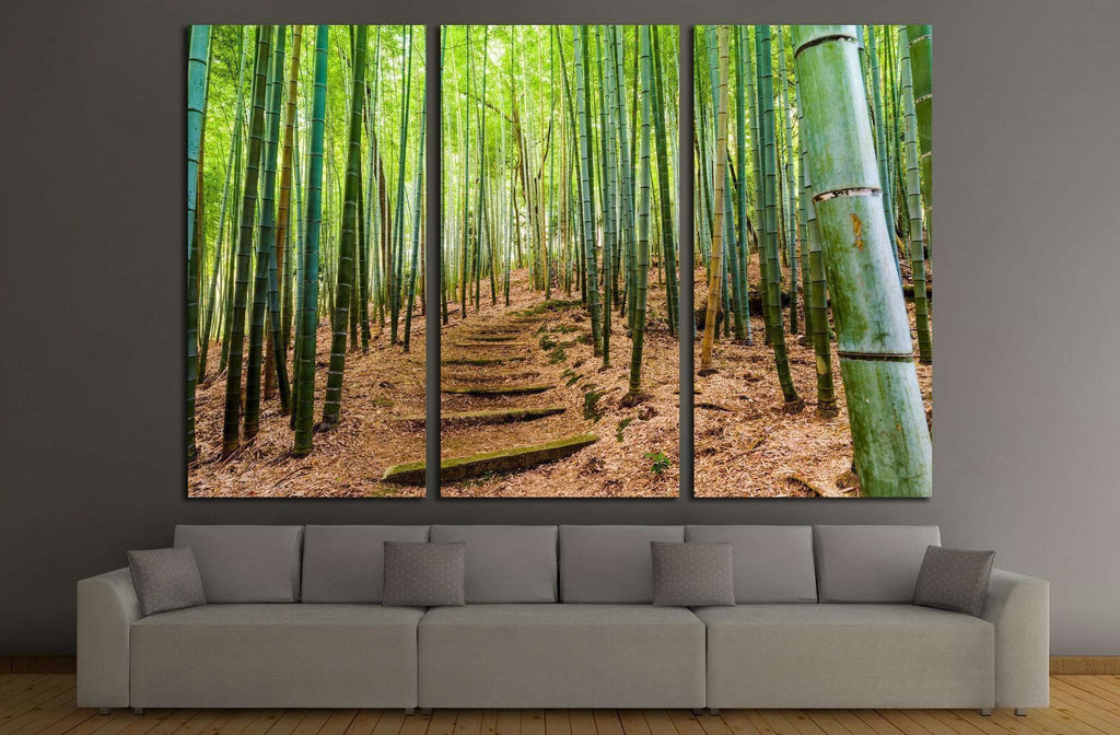 Kyoto, Japan bamboo forest №1987 Ready to Hang Canvas Print