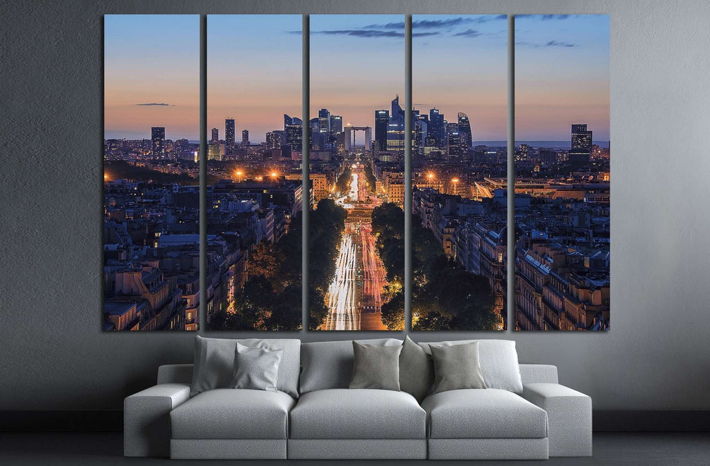 La Defense in Paris №821 Ready to Hang Canvas Print