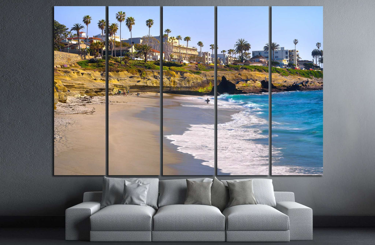 La Jolla San Diego California №1012 Ready To Hang Canvas