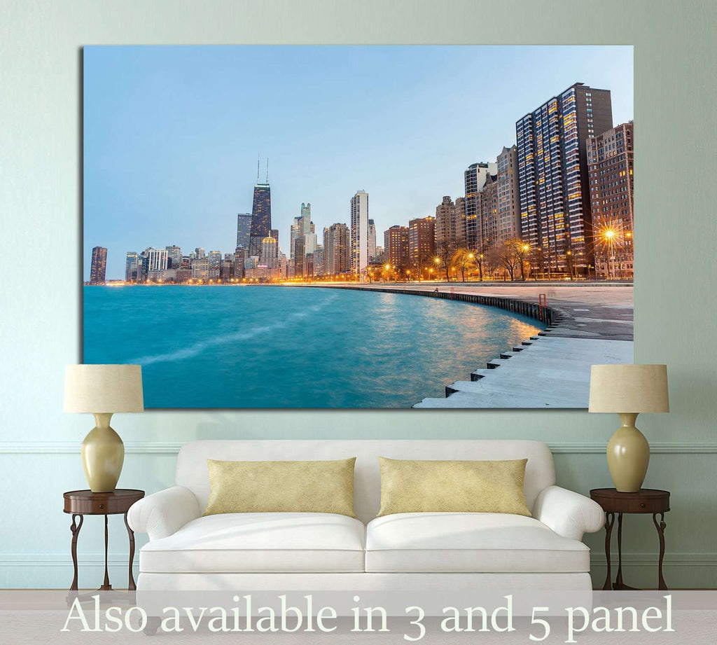 Lake Michigan, Chicago №998 Ready to Hang Canvas Print