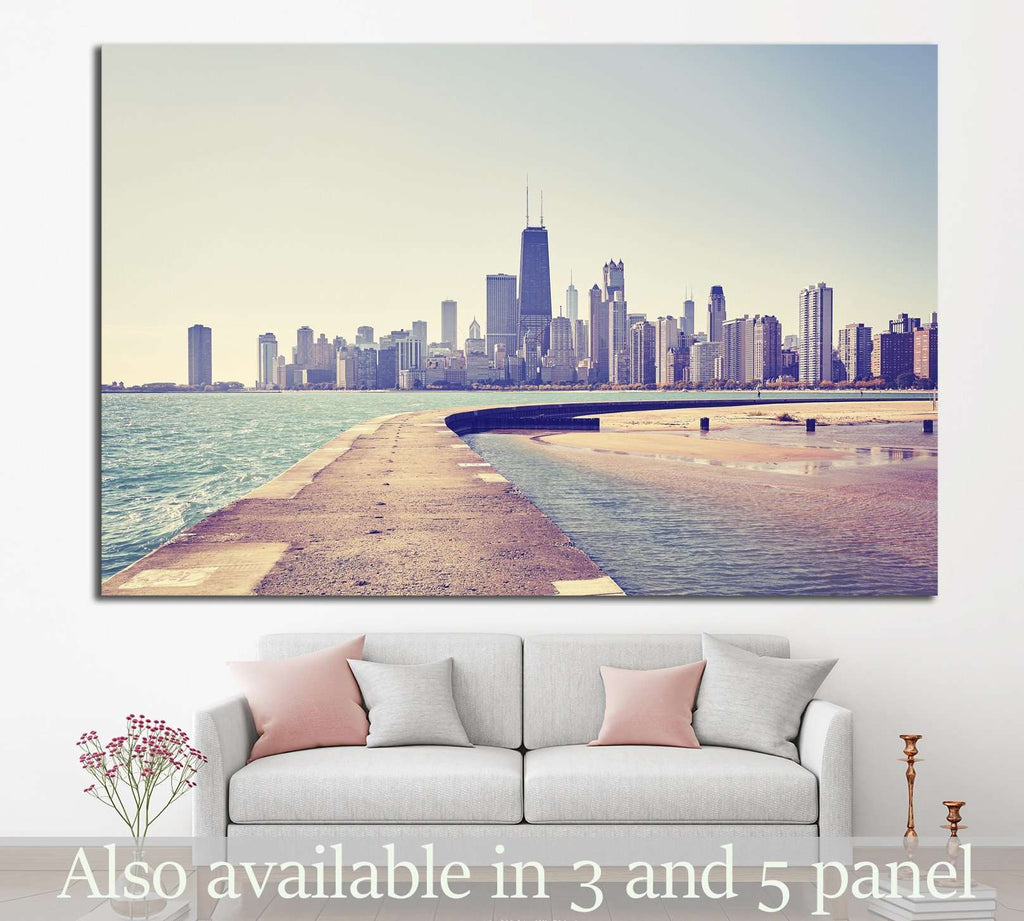 Lake Michigan, USA №1003 Ready to Hang Canvas Print