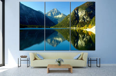 Lake with mountains №622 Canvas Print