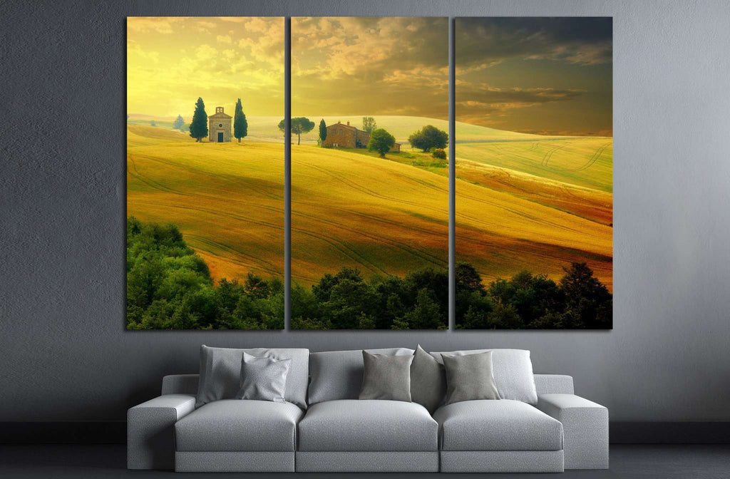 Landscape in Tuscany №623 Ready to Hang Canvas Print