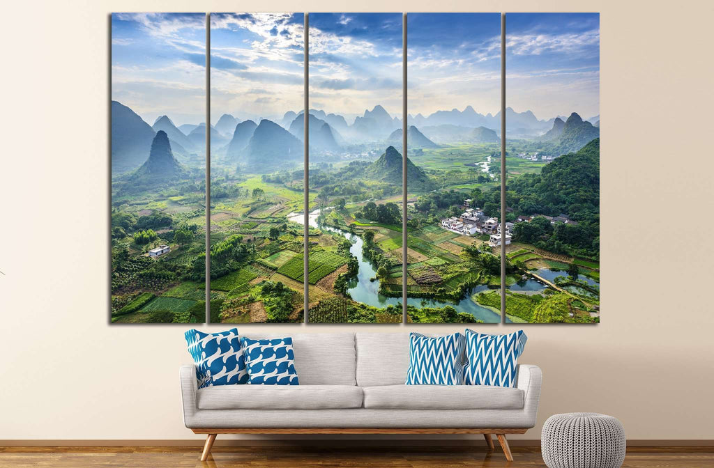Landscape of Guilin №625 Ready to Hang Canvas Print