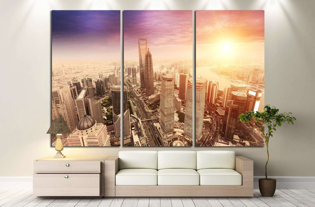 landscape of shanghai №1161 Ready to Hang Canvas Print
