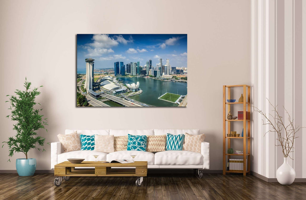 Landscape of Singapore city in day morning time. №2166 Ready to Hang Canvas Print