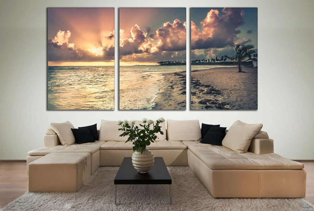 Large Beach №743 Ready to Hang Canvas Print