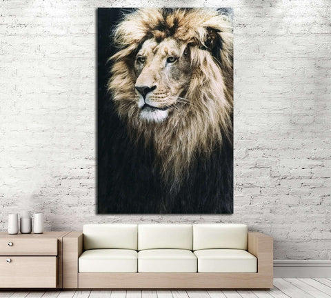 Large Lion №191 Ready to Hang Canvas Print