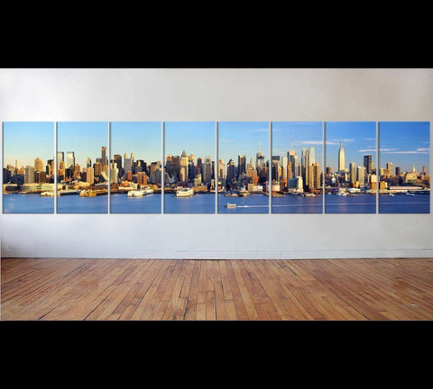 Large Manhattan Midtown skyline №54 Ready to Hang Canvas Print