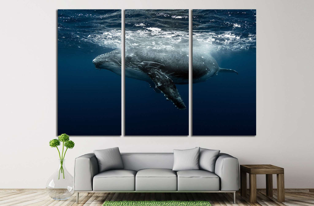 Large Whale №513 Ready to Hang Canvas Print