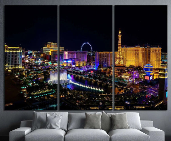 Las Vegas strip in Nevada №1103 Ready to Hang Canvas Print