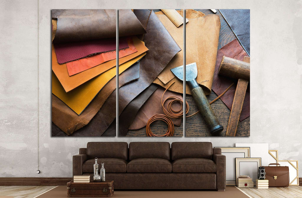Leather craft №1062 Ready to Hang Canvas Print