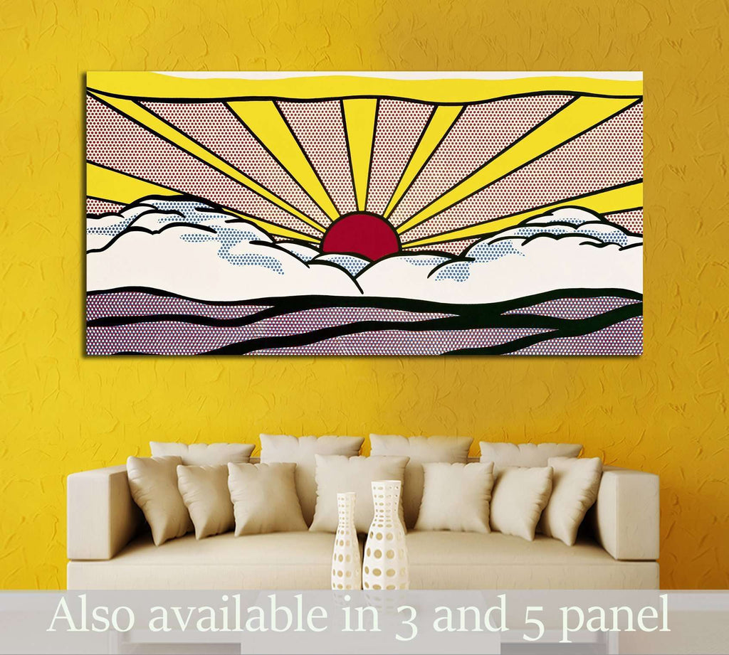 Lichtenstein, Roy №3287 Ready to Hang Canvas Print