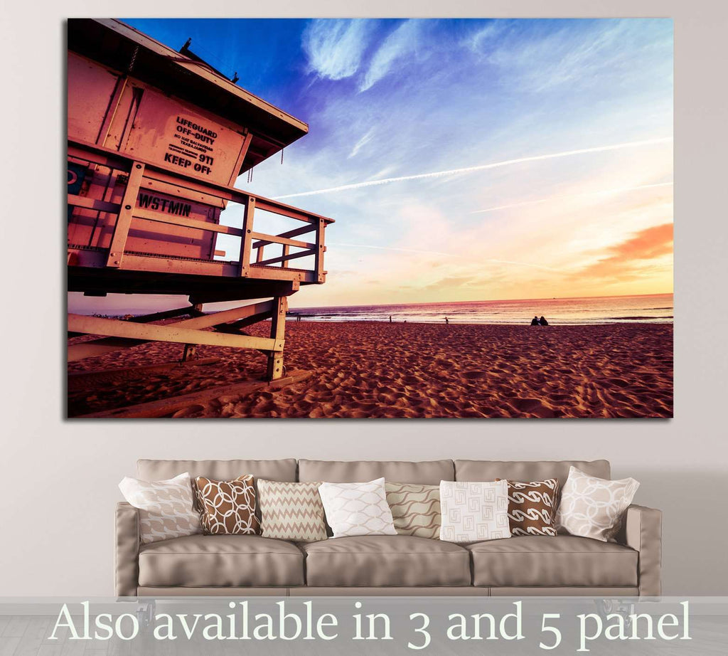 Lifeguard, Venice Beach №883 Ready to Hang Canvas Print