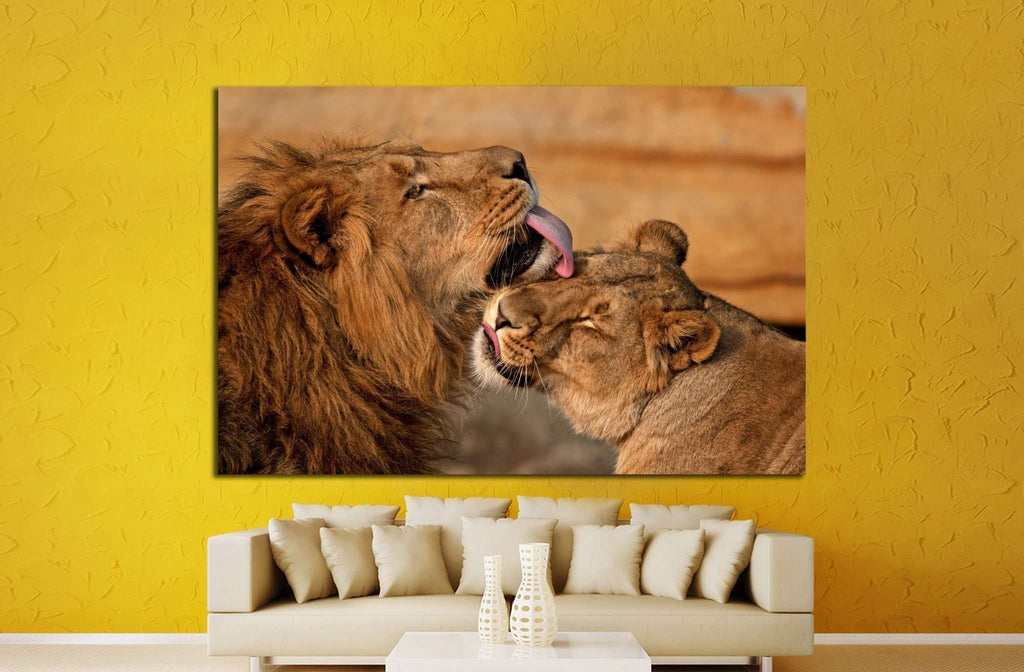 lion, panthera leo №1332 Ready to Hang Canvas Print