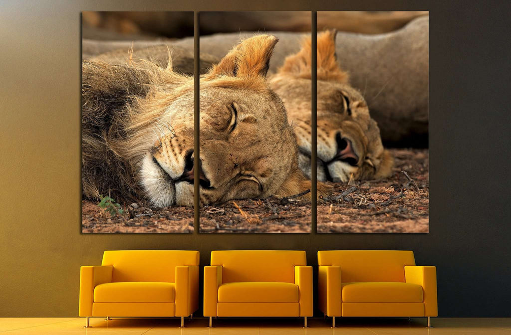 Lion Tandem №1112 Ready to Hang Canvas Print